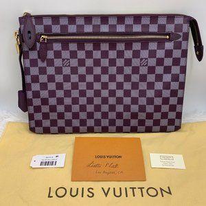 Louis Vuitton Damier Couleurs Clutch Carmine Bag